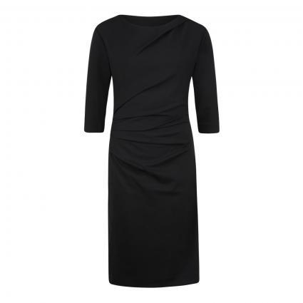 Kleid 'Izza' mit Drapierung schwarz (050 BLACK)   42