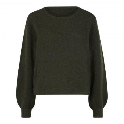 Pullover mit Rippbündchen grün (PESTO CHINE) | L