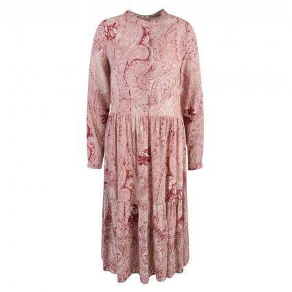 Kleid mit All-Over Druck rose (1418 ruby print)   L