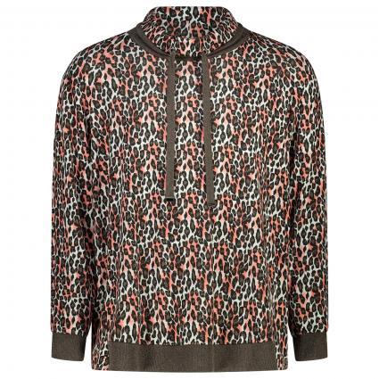 Sweatshirt mit All-Over Muster und Glitzerfäden Details braun (58 brown) | 48