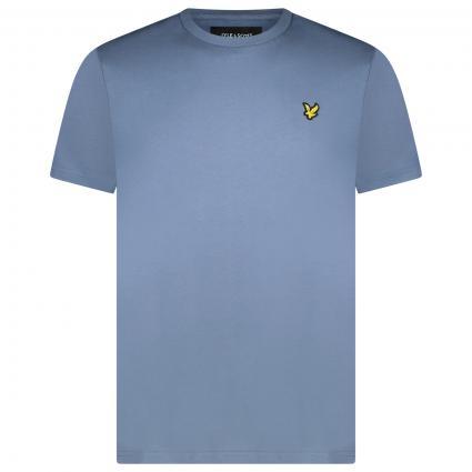 T-Shirt mit Label Patch blau (W477 slate blue) | L