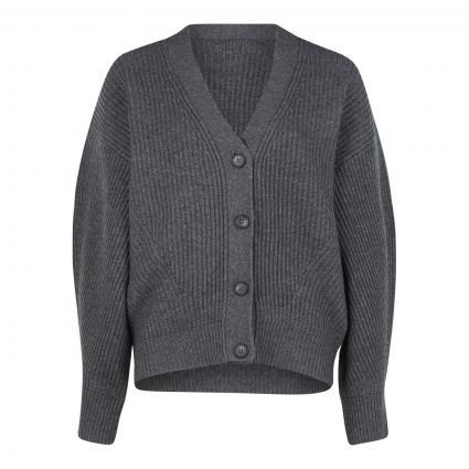 Strickjacke mit Knopfleiste grau (1032 med grey) | 38