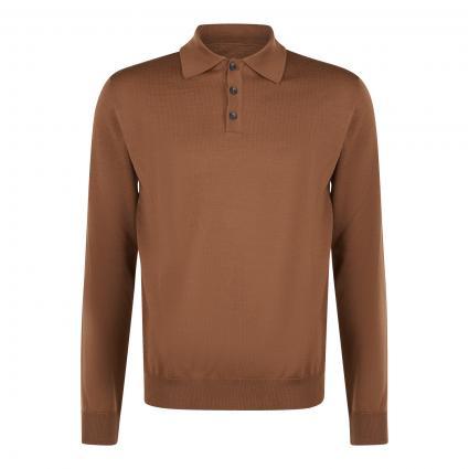 Pullover mit Polokragen braun (7E4650 Brown)   50