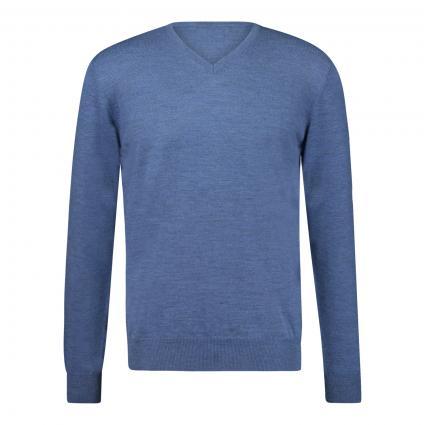 Pullover mit V-Ausschnitt blau (5M0660 Denim) | 48
