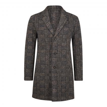Mantel mit Karomuster grau (058 grau/blau) | 56