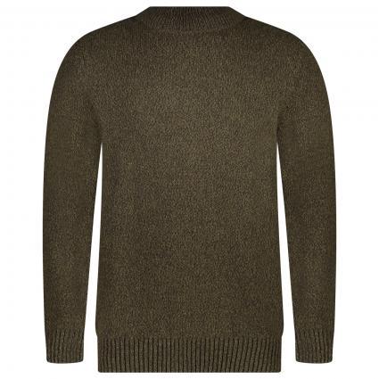 Pullover mit Schildkrötenkragen grün (OL11 OLIVE MARL) | M