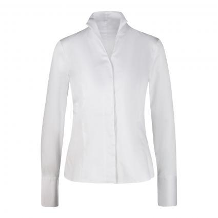 Bluse 'M-Alice' mit Zierkette weiss (000 white)   46