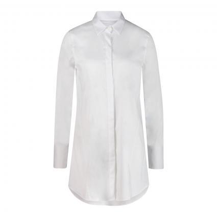 Lange Bluse 'M-Blume' weiss (000 white) | 40