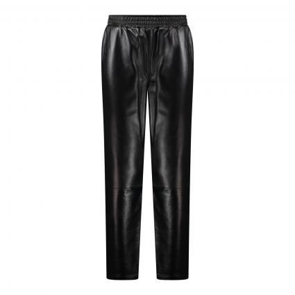 Lederhose mit elastischem Bund schwarz (1025 black) | 40