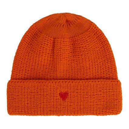 Mütze mit Herz-Motiv orange (2800 orange)   0