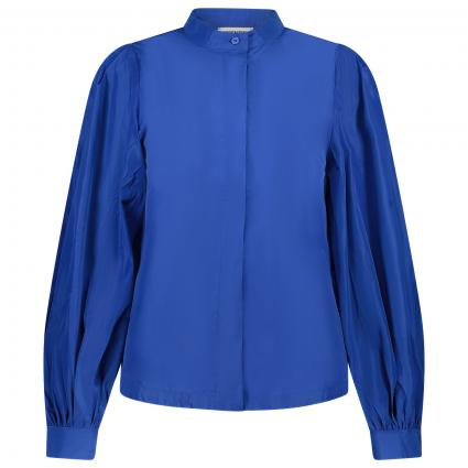 Bluse mit Puffärmel blau (KLEIN BLUE KB15) | 40