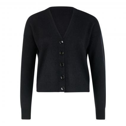 Strickjacke aus Cashmere schwarz (200 schwarz) | XL