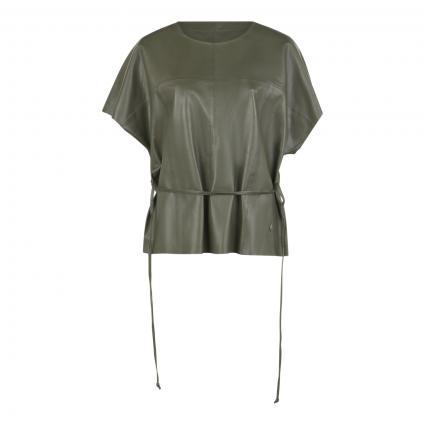 Bluse 'Shirley' aus Leder oliv (507 GRAPE LEAF) | 36