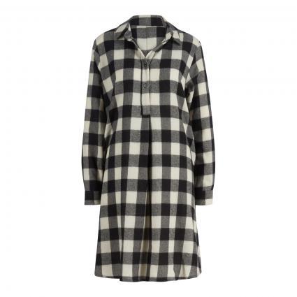 Hemdblusenkleid aus Wolle ecru (C2 ecru schwarz)   38