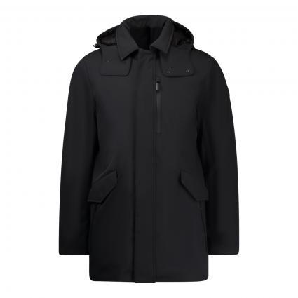 Softshell Jacke 'Barrow Mac' mit Kapuze schwarz (100 black)   L