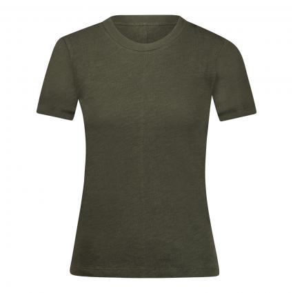T-Shirt mit Rundhalsausschnitt oliv (CYPRES)   M