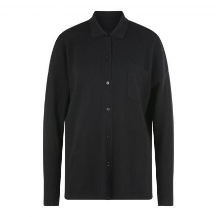 Strickjacke aus Cashmere schwarz (black)   XS