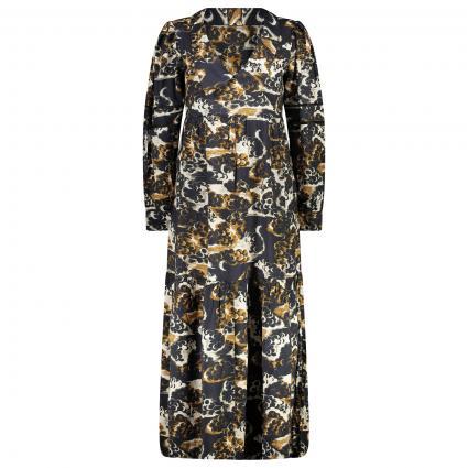 Gemustertes Kleid mit V-Ausschnitt divers (0217 Combo A)   M