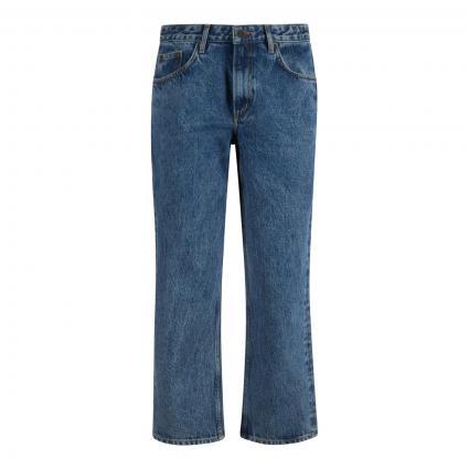 Highwaist-Jeans mit geradem Bein blau (BLUE STONE)   26