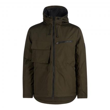 Jacke mit Kapuze oliv (W485 olive) | XL