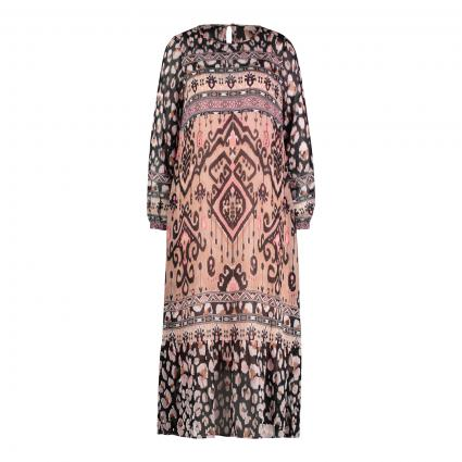 Kleid mit Muster-Mix divers (541 rosewood)   XXL