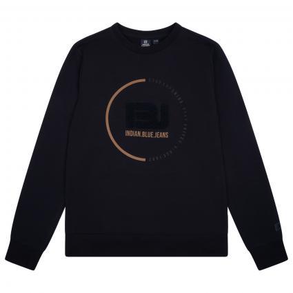 Sweatshirt mit Label-Druck marine (598 TRUE NAVY) | 164