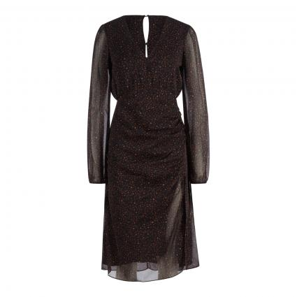 Kleid 'Felia' schwarz (912346 BLACK/OLD WHISKEY IRREGULAR)   M