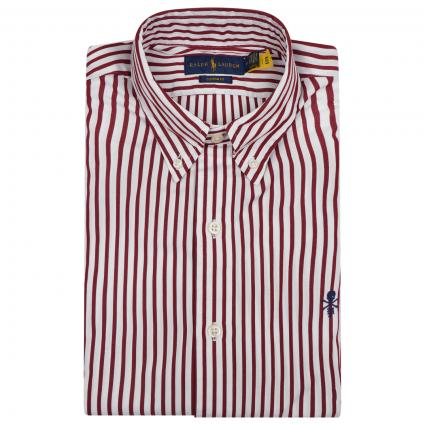 Casual-Fit Hemd mit Streifenmuster rot (001 RED WHITE) | M