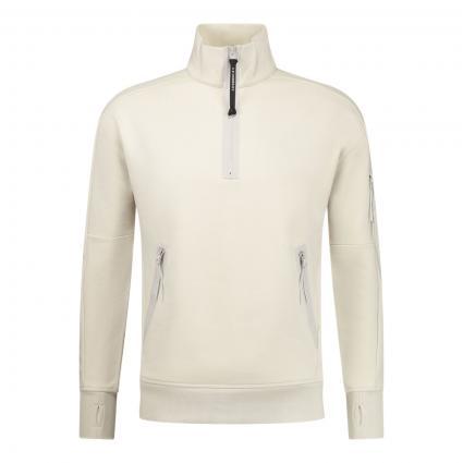 Sweatshirt mit Stehkragen beige (116 sandshell)   XL