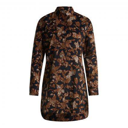 Bluse mit All-Over Muster schwarz (903 black leo)   36