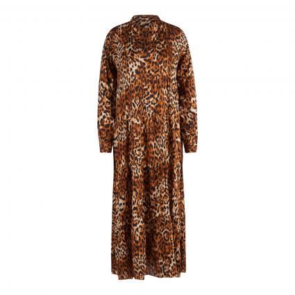 Hemdblusenkleid mit Animal-Muster camel (790 leo) | 36