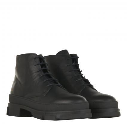 Schnürschuhe aus Leder schwarz (vitello black) | 42