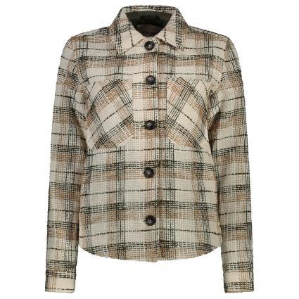 Jacke mit Karo-Muster oliv (507 GRAPE LEAF) | 38