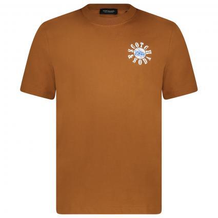 T-Shirt mit Label-Print orange (0082 Tabacco) | S