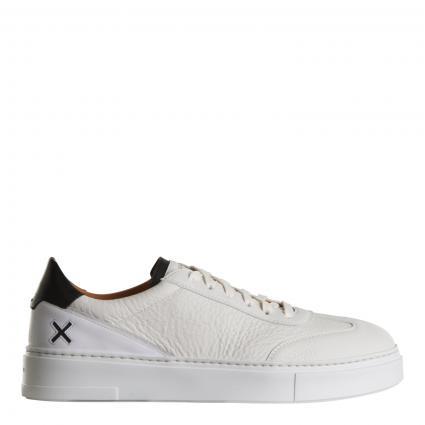 Sneaker aus Leder weiss (blanco)   43