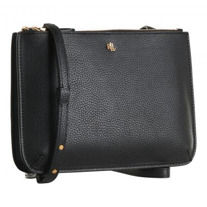 Crossbody Bag 'Carter' aus Leder schwarz (001 BLACK) | 0