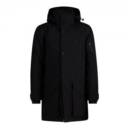Mantel mit Kapuze schwarz (999 black)   XL