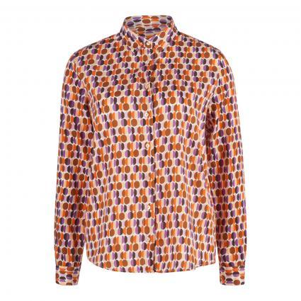 Bluse mit grafischem Print orange (390 orange lilac) | 42
