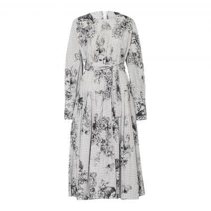 Kleid 'Karda' mit All-Over Druck schwarz (091 black white) | 40