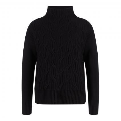 Pullover mit Stehkragen schwarz (black) | XXL