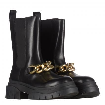 Boots aus Leder schwarz (COMBO B: MUSTANG BLA) | 41