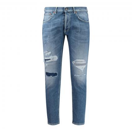 Slim-Fit Jeans 'Dian' mit Destroyed-Elemente blau (800 blue dstry) | 34