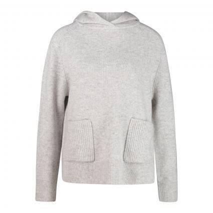 Cashmere-Pullover mit Kapuze grau (grau mel.) | XL