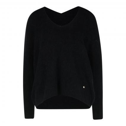 Pullover 'Thora' mit V-Ausschnitt  schwarz (801 BLACK)   XL