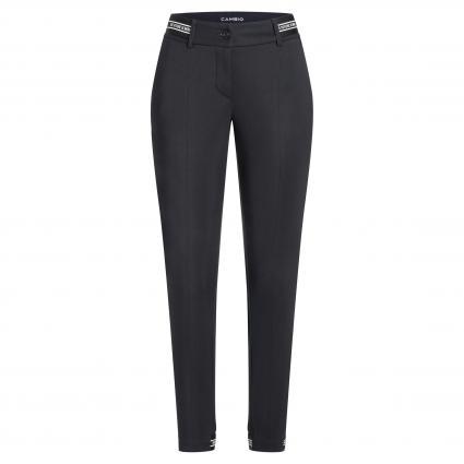 Pantalon étroit'Rome' avec détails contrastés noir (902 black white upsi) | 29 | 44