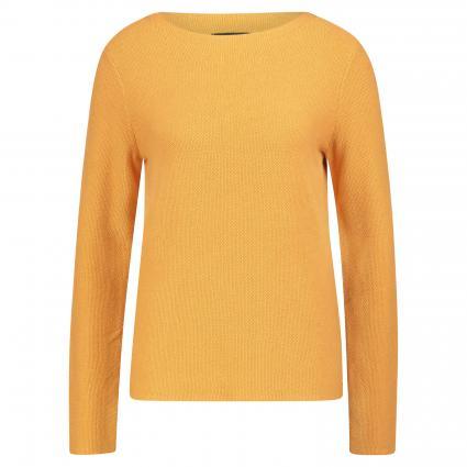 Strickpullover mit Strukturmuster gelb (241 amber wheat) | XS