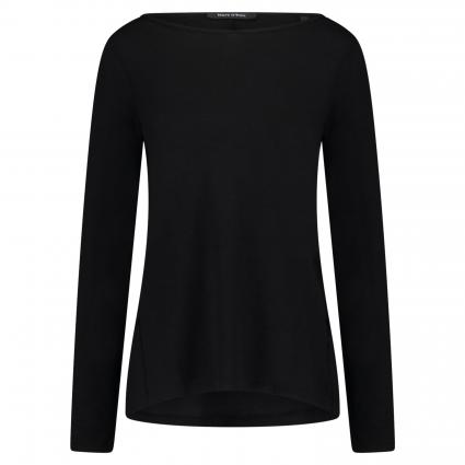 Langarmshirt aus Baumwolle schwarz (990 black)   XL