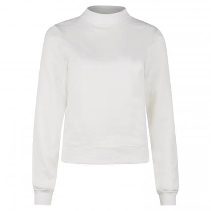 Sweatshirt mit Stehkragen  ecru (123 soft white) | S