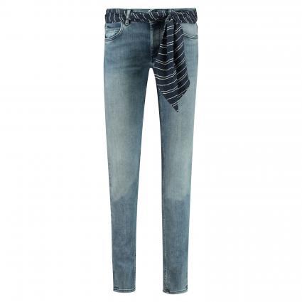 Slim-Fit Jeans mit Gürtel  blau (012 Mid Blue Wash) | 32 | 32