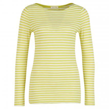 Langarmshirt mit Ringelmuster grün (B37 multi/juicy lime) | XL